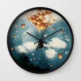 Where all the wishes come true Wall Clock