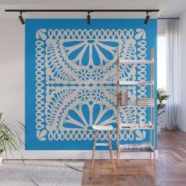 Fiesta de Flores in Party Blue Wall Mural
