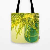 golden Tote Bags featuring Golden by Olivia Joy StClaire