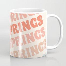 Palm Springs typography trendy retro vintage style 70s minimal art socal cali vibes Coffee Mug