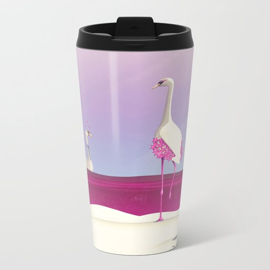 Flamingo Fatale Metal Travel Mug