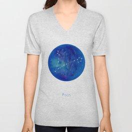 Constellation Pisces Unisex V-Neck
