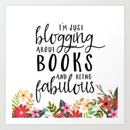 Blogging About Books Art Print