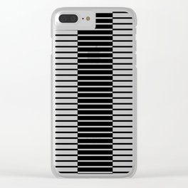 Zebras Play Piano Duet Clear iPhone Case
