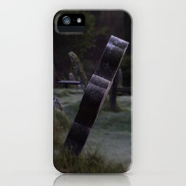 Tilted Gravestone iPhone Case