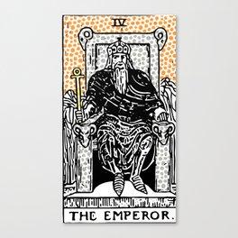 Modern Tarot Design - 4 The Emperor Canvas Print