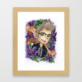 Ignis in Purple Framed Art Print