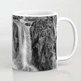 Black and White Beautiful Waterfall Coffee Mug