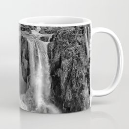 Black and White Beautiful Waterfall Coffee Mug
