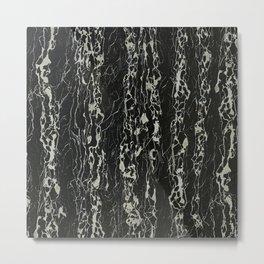 Black Marble Stone Metal Print