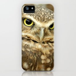 Owl Eyes, They're Watching You iPhone Case