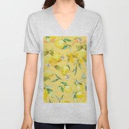 Watercolor lemons 5 Unisex V-Neck