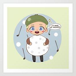Niall Horan, the golf ball. Art Print