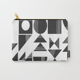 Shape and Line in Black and White Carry-All Pouch