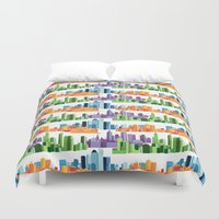 cities Duvet Covers featuring Australian Cities by S. Vaeth