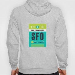 Baggage Tag A - SFO San Francisco USA Hoody