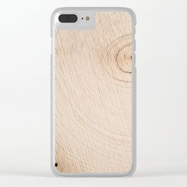 Real Wood Texture / Print Clear iPhone Case
