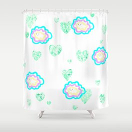 leaves and sparkle ~smile~ five Shower Curtain