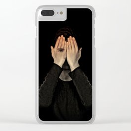Eyes did not see, mind did not look Clear iPhone Case