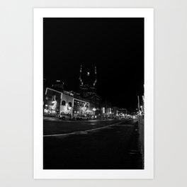 Broad Street, Downtown Nashville Music City USA Art Print