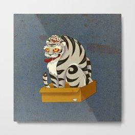 Minhwa: Big Happy Cat D Type (Korean traditional/folk art) Metal Print
