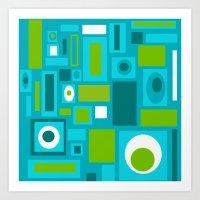 brooklyn Art Prints featuring Brooklyn by Crash Pad Designs