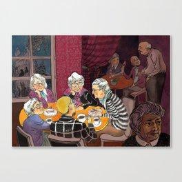 grandmas' tea party Canvas Print