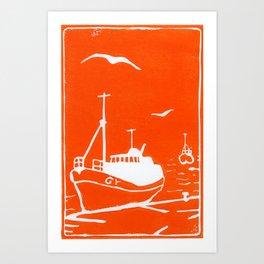 Comrades in Orange Art Print