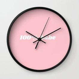 100% babe Wall Clock