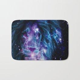 Leo Galaxy Lion : Purple Blue Bath Mat