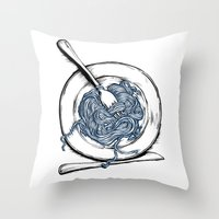 pasta Throw Pillows featuring Pasta!! by EGARCIGU