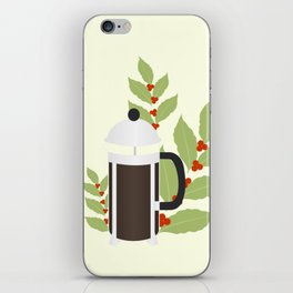 French press iPhone Skin
