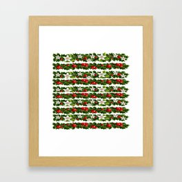 Christmas holly and garlands Framed Art Print