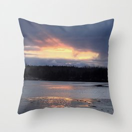 Breakthrough on the Water Throw Pillow