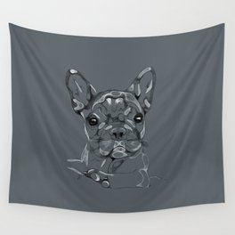 Sketchy Frenchie Wall Tapestry