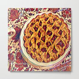 Coffee & Cherry Pie, Food For Thought Metal Print