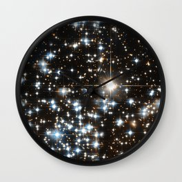 Sparkle Star Field in the Universe Wall Clock