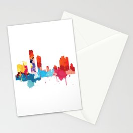 Panama Cityscape Watercolor Stationery Cards