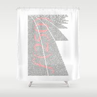 fibonacci Shower Curtains featuring f(250) by tuditees