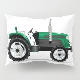 Green Isolated Tractor Pillow Sham