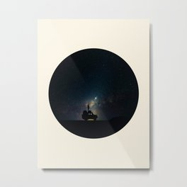 Staring Into The Milky Way Galaxy Over The Australian Outback Metal Print