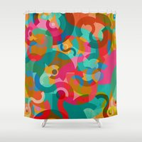 picasso Shower Curtains featuring Pattern Picasso by Tony Vazquez