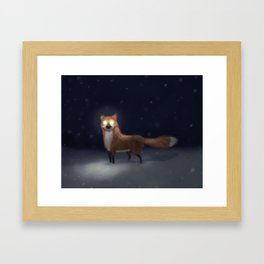 ghost fox Framed Art Print