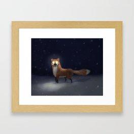 ghost fox Framed Art Print