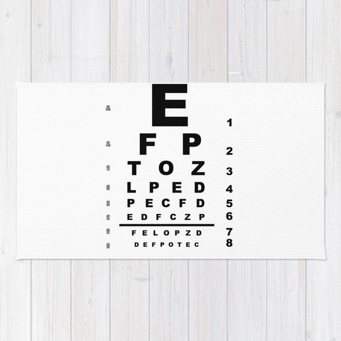 Eye Test Chart Rug By Homestead Society6