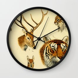The Great and Small Game of Europe, Western and Northern Asia and America Wall Clock