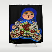 russian Shower Curtains featuring Russian dolls by maggs326