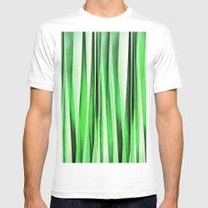 Whispering Green Grass MEDIUM Mens Fitted Tee White
