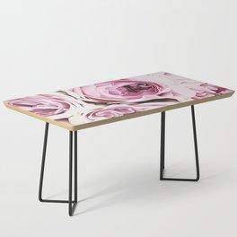 Peonies Illustration Coffee Table