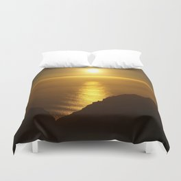 Sunset over the Canary islands Duvet Cover